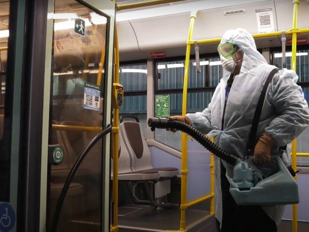 Фото. Дезинсекция общественного транспорта.