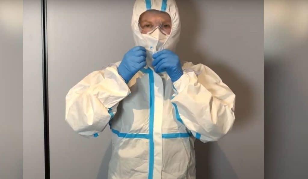 Фото: защитный костюм для дезинсекции